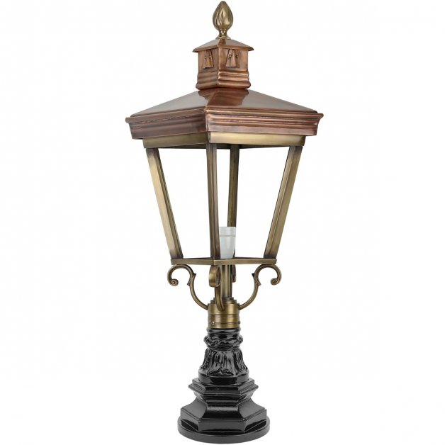 Buitenverlichting Klassiek Landelijk Buitenlamp Veghel Brons - 81 cm