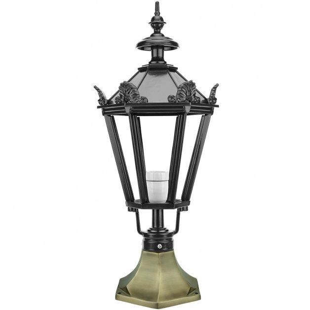 Außenbeleuchtung Klassisch Nostalgisch Außenlaterne niedrige Asselt bronze - 64 cm