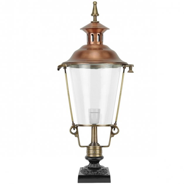 Garden Lighting Classic Rural Lantern on foot Gieterveen bronze - 70 cm