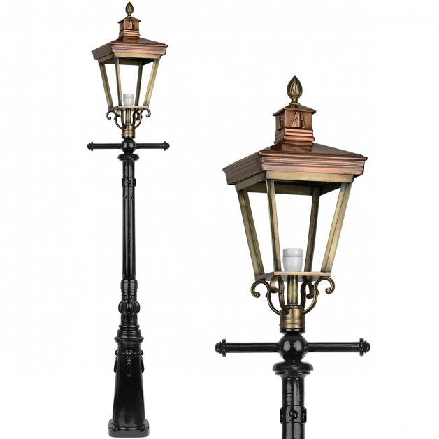 Außenbeleuchtung Klassisch Ländlich Laternenmast bronze Oudenbosch - 240 cm