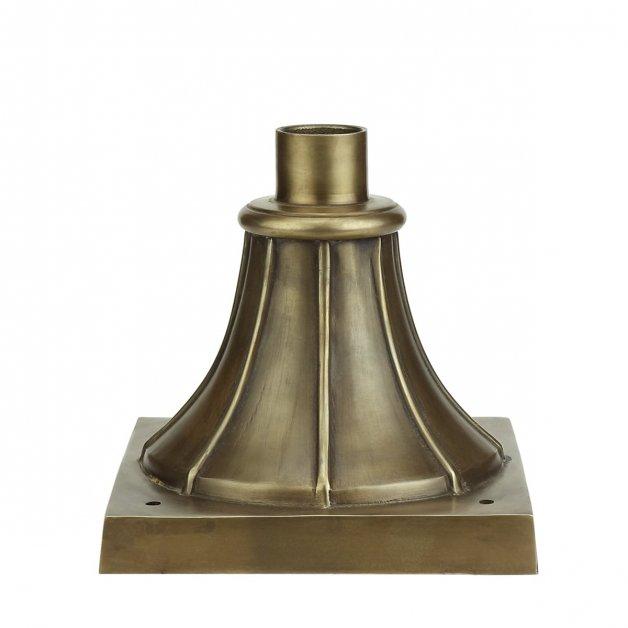 Außenbeleuchtung Klassisch Ländlich Einzelne sockel pfahl M20BR bronze - 16 cm