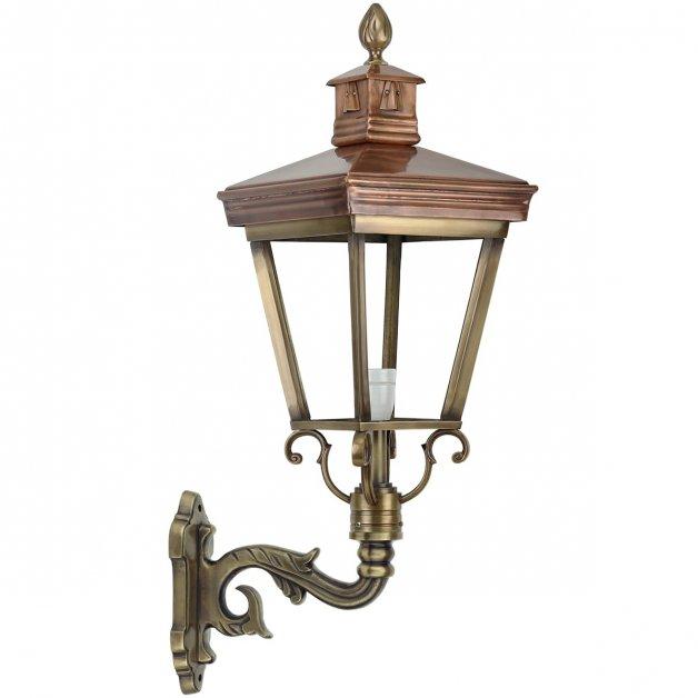 Buitenverlichting Klassiek Landelijk Muurlamp Leeuwarden brons - 78 cm
