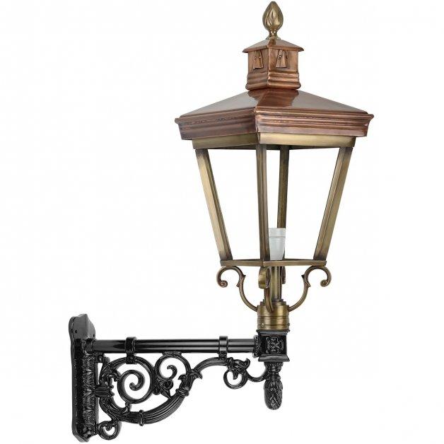 Buitenverlichting Klassiek Landelijk Muurlamp Nijmegen brons - 110 cm
