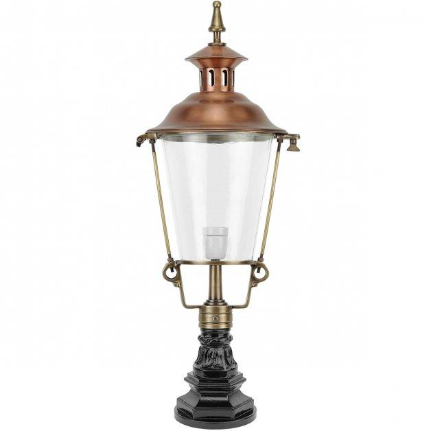 Outdoor Lighting Classic Rural Pillar lamp Hoogeveen copper - 81 cm