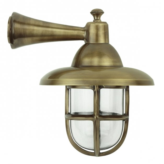 Buitenverlichting Nautisch Maritiem Scheepslamp Nautica messing - 42 cm