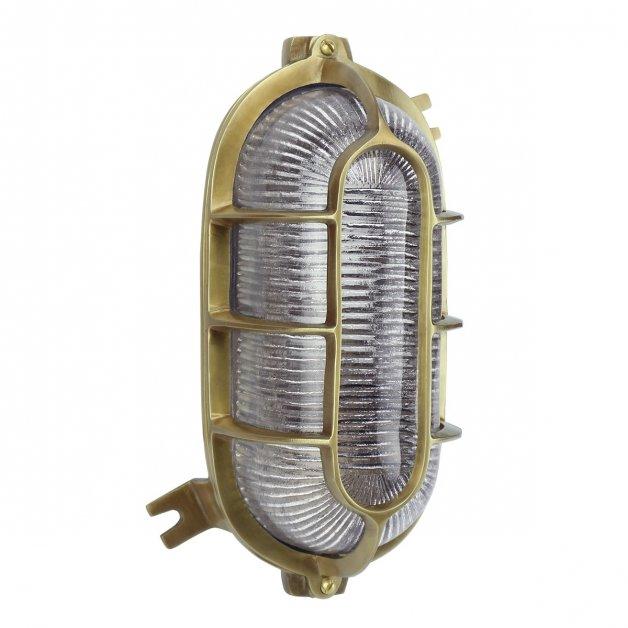 Außenbeleuchtung Maritim Nautik Schiffslampe Offshore Bulleye bronze - 27 cm