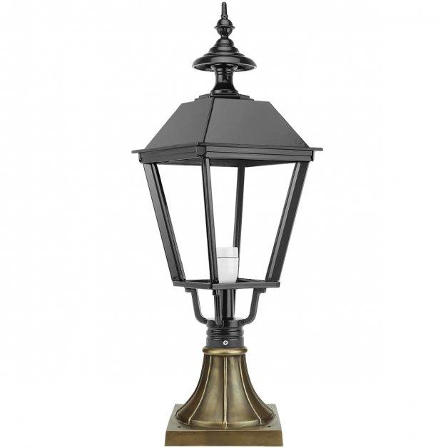 Buitenverlichting Klassiek Nostalgisch Sokkellamp Eexterveen brons - 77 cm