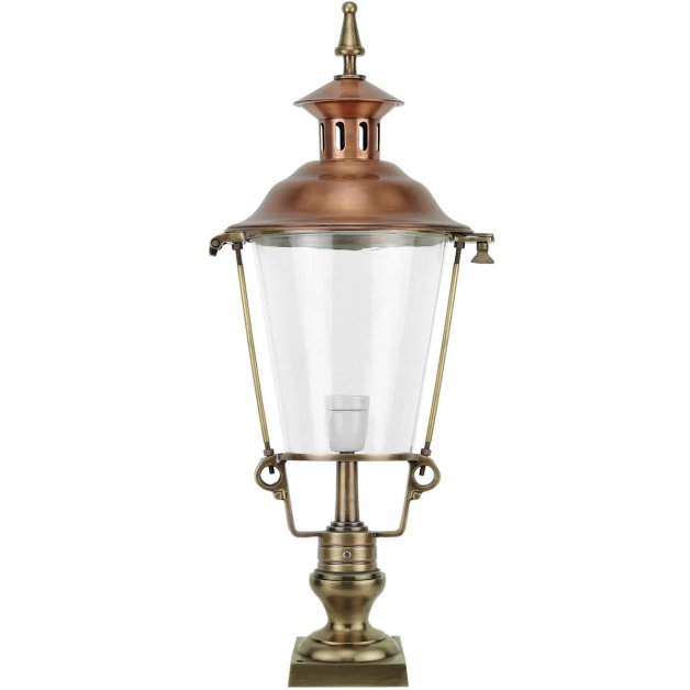 Outdoor Lighting Classic Rural Pedestal lantern Bleskensgraaf brass - 83 cm