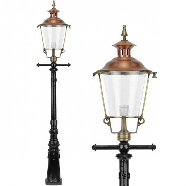 Buitenverlichting Klassiek Landelijk Straatlantaarn koper Purmerend - 250 cm