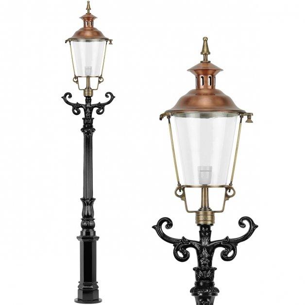 Buitenverlichting Klassiek Landelijk Terrraslantaarn brons Limbricht - 230 cm