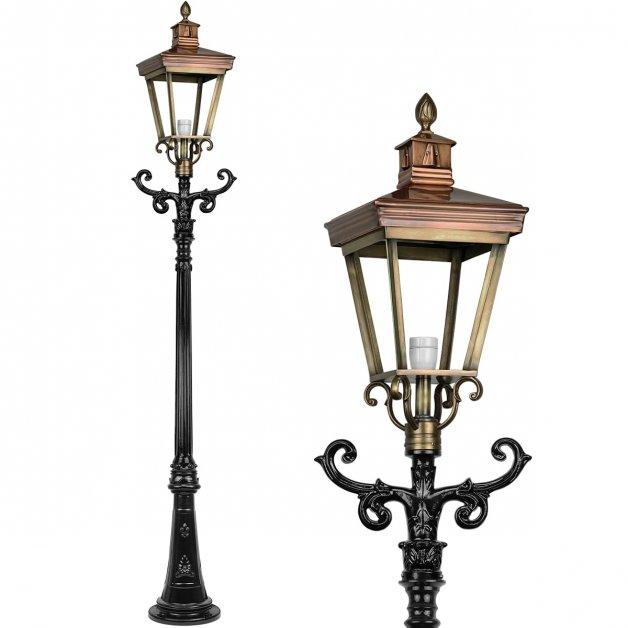 Außenbeleuchtung Klassisch Ländlich Gartenlaterne bronze Leuvenheim - 270 cm