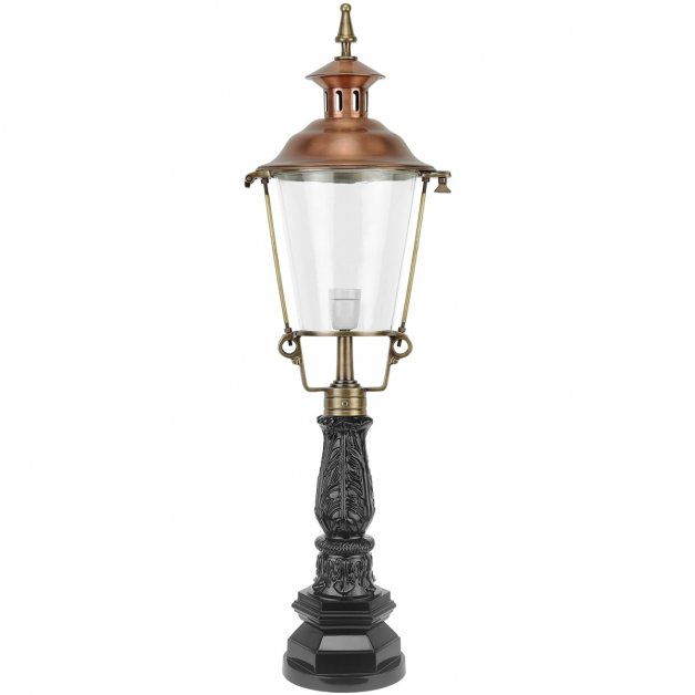 Outdoor Lighting Classic Rural Garden lantern round Eursinge bronze - 129 cm
