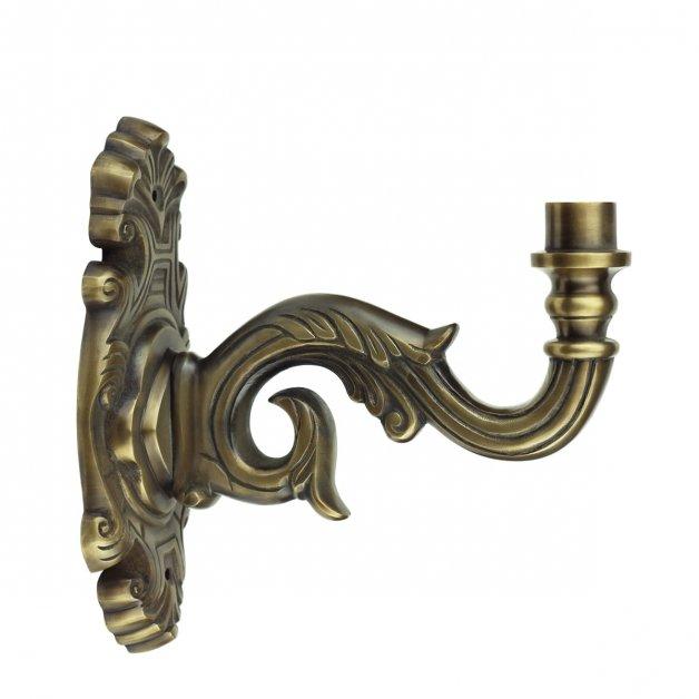 Außenbeleuchtung Klassisch Ländlich Wandarm Colmschate WA09CBR bronze - 35 cm
