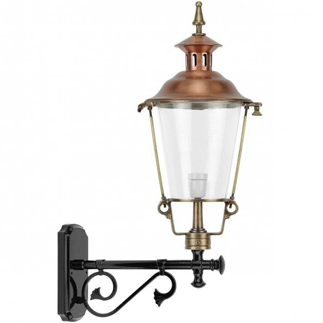 Buitenlampen Klassiek Landelijk Wandlantaarn rond Bareveld koper - 78 cm