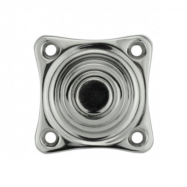 Türbeschläge Türklingeln Ruftaster quadratisch nickel Lorsch - 38 mm