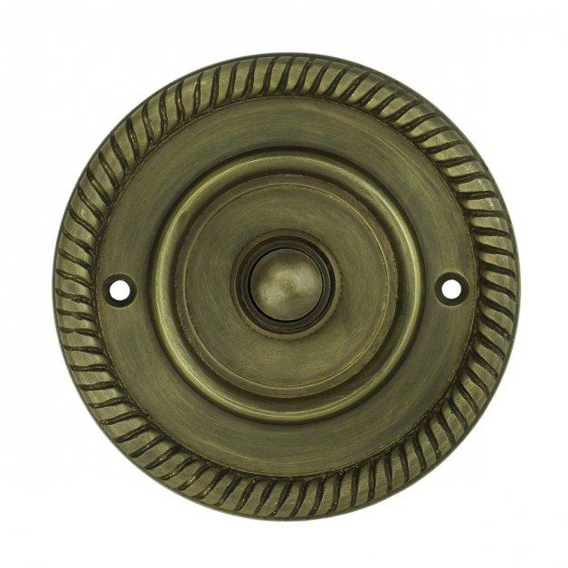 Türbeschläge Türklingeln Anruftaste mit kranz bronze Mainz - Ø 80 mm