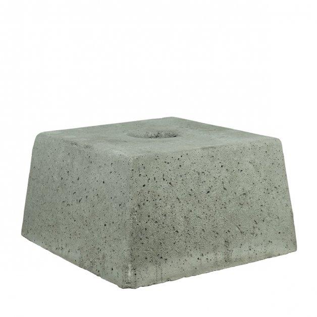 Buitenlampen Funderingen Betonblok conisch vierkant met gat - 35 kg
