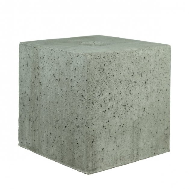 Outdoor Lamps Foundations Concrete block square with hole - 50 kg