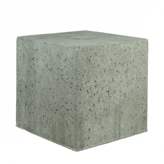 Buitenlampen Funderingen Betonpoer vierkant met gat - 50 kg