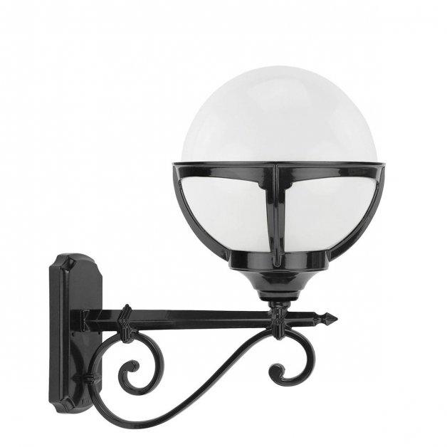 Buitenlampen Klassiek Landelijk Bol wandlamp opaal Hoogmade - 50 cm