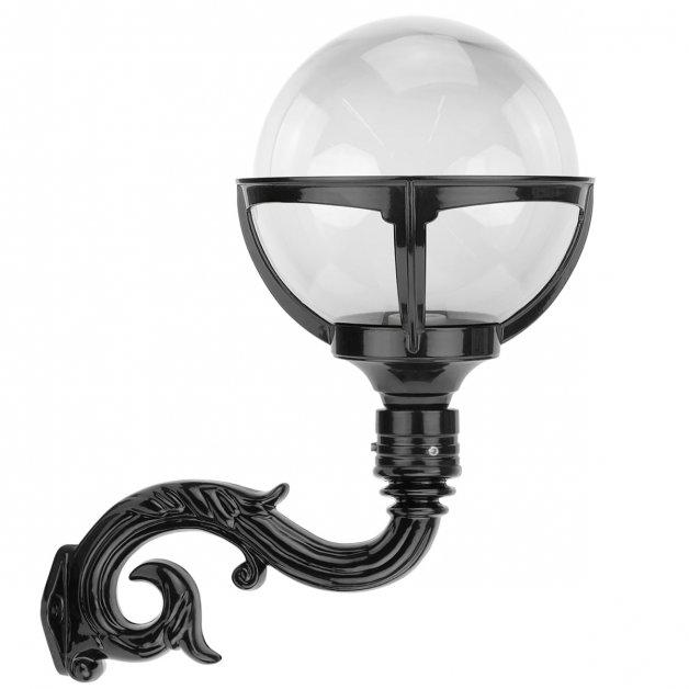 Buitenlampen Retro Rustiek Bollamp wand op krularm Haskerhorne - 47 cm