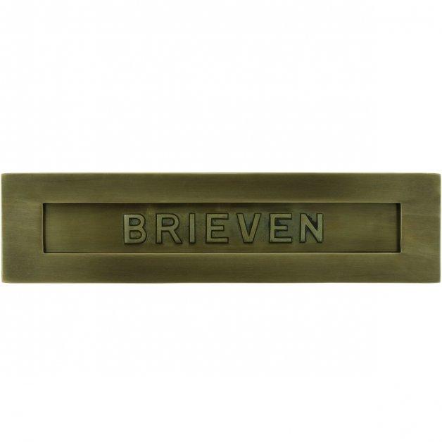 Brievenbussen Klassiek Landelijk Briefplaat brieven brons Wickford - 80 mm