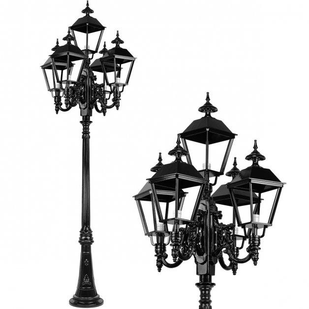 Außenleuchten Laternenpfähle Außenlaterne hoch Cruquius 5-Licht - 290 cm
