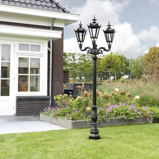 Außenbeleuchtung Klassisch Ländlich Außenlaterne alte Waalwijk 3-licht - 235 cm