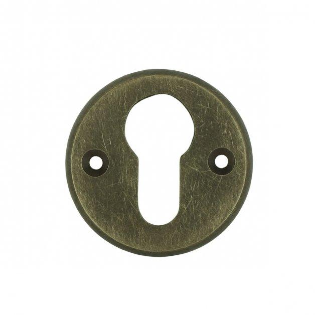 Hardware Door Rosettes Cylinder rosette round brass Lollar - Ø 49 mm