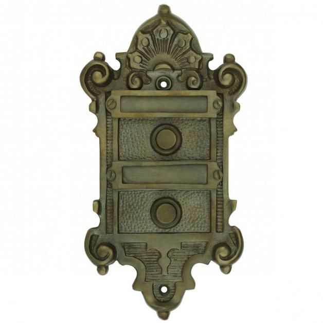 Türbeschläge Türklingeln Türklingel duo namensschilder bronze - 180 mm
