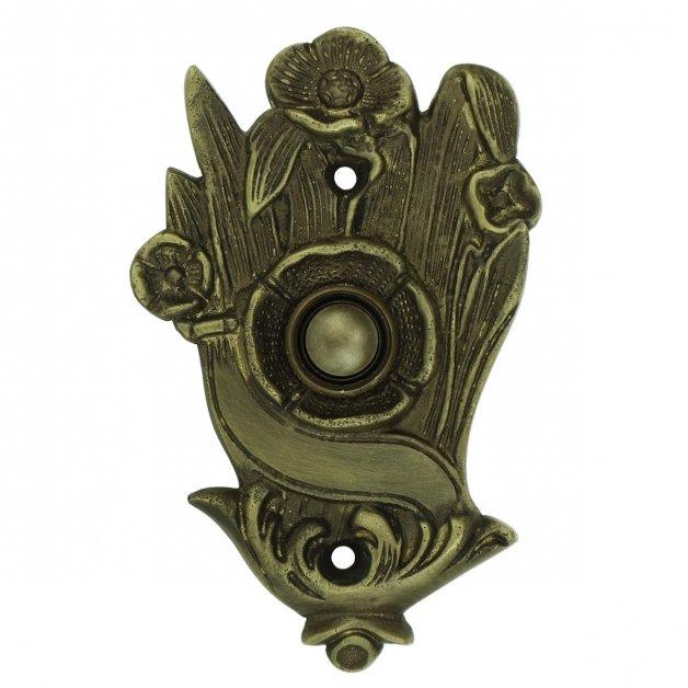 Türbeschläge Türklingeln Türklingel blumen alt bronze Roßwein - 108 mm