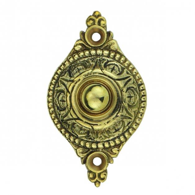 Türbeschläge Türklingeln Türklingel oval rustikal messing Geisa - 83 mm
