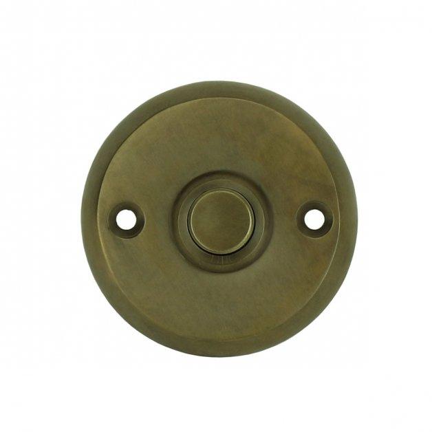 Türbeschläge Türklingeln Türklingel rund alt messing Ohrdruf - Ø 50 mm