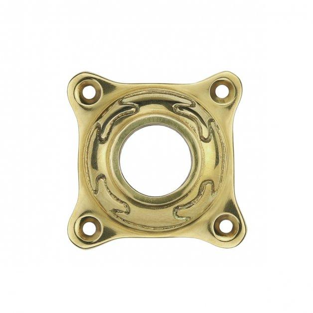Hardware Door Rosettes Crutch rosette round brass Pocking - Ø 60 mm