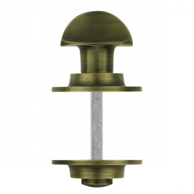 Deurbeslag Toiletsluitingen Deurslot toilet oud brons vrij bezet - Ø 50 mm
