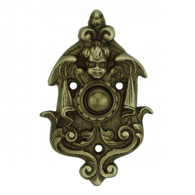 Türbeschläge Türklingeln Druck klingel mit ornamenten Soltau - 97 mm
