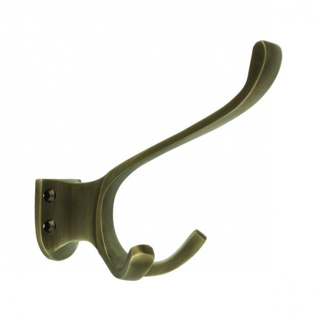 Hardware Coat Hooks Wardrobe hook antique brass Pfreimd - 100 mm