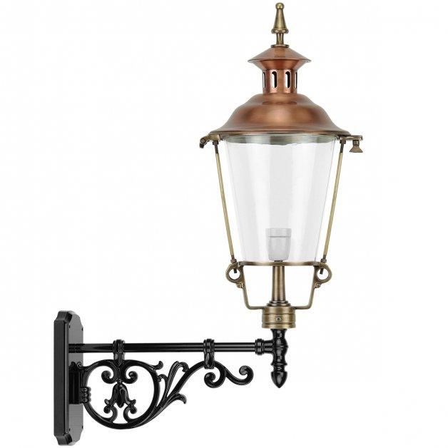 Buitenlampen Nostalgisch Rustiek Gevellantaarn antiek koper Dreischor - 84 cm
