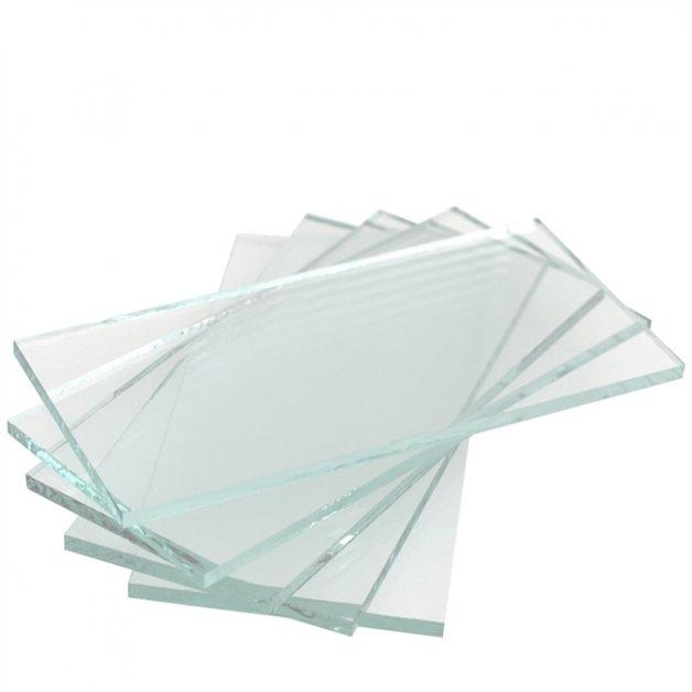 Buitenverlichting Onderdelen Glas vierkante buitenlamp kap K03 - 23 cm