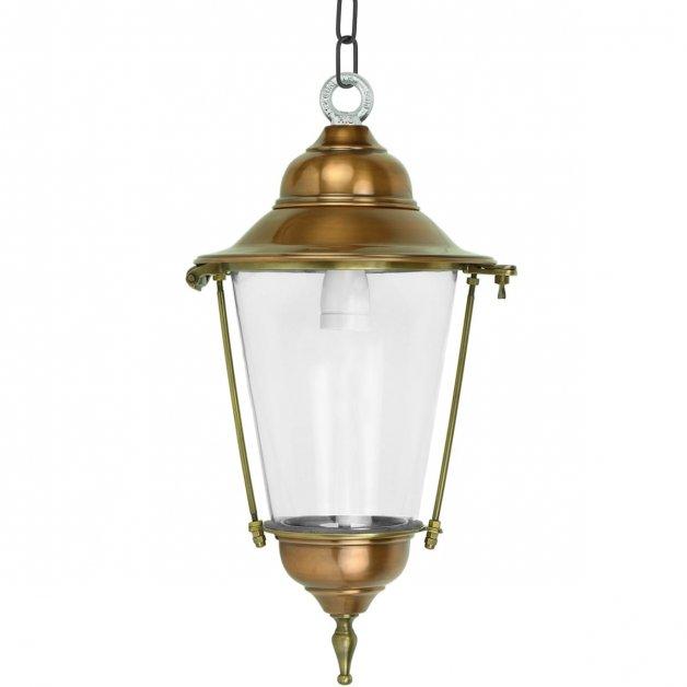 Buitenverlichting Klassiek Landelijk Hanglamp Sneek brons aan ketting - 54 cm