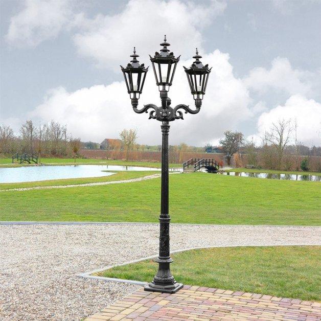 Buitenverlichting Klassiek Landelijk Kroonlantaarn Eyserheide 3-lampen - 253 cm