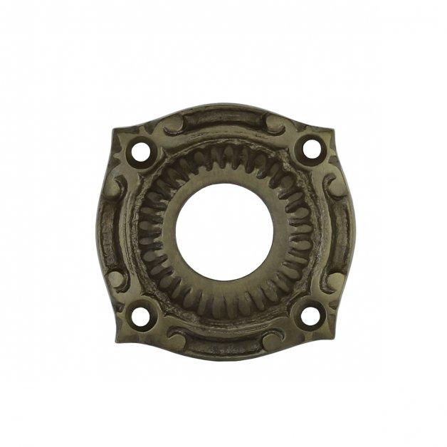 Hardware Door Rosettes Crutch rosette old bronze Schkölen - Ø 56 mm