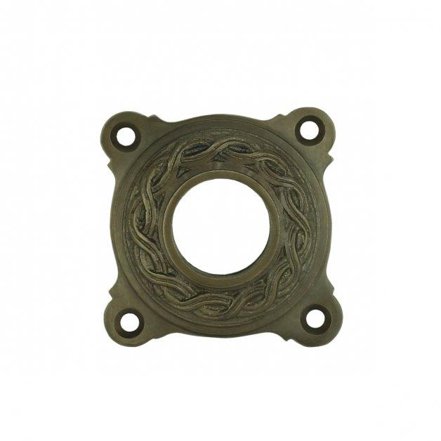 Hardware Door Rosettes Crutch rosette rustic old brass Kalbe - Ø 63 mm