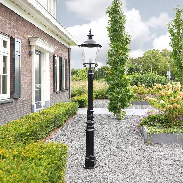 Buitenverlichting Klassiek Landelijk Lantaarn lamp staand Beusichem - 195 cm