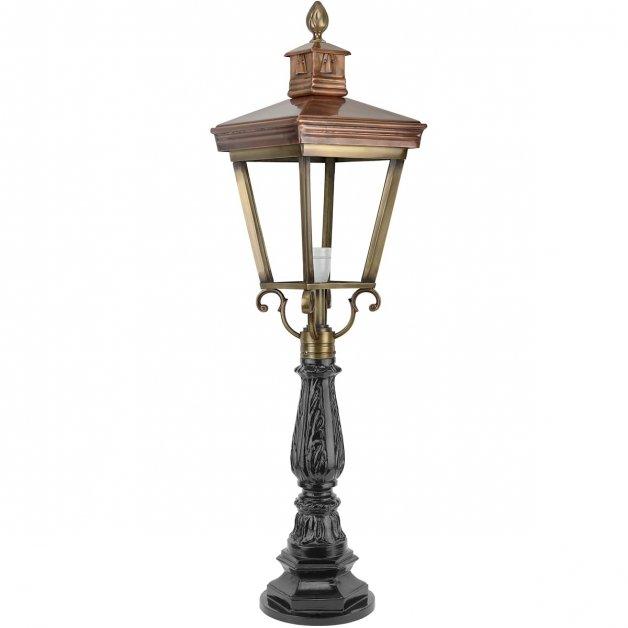 Buitenverlichting Klassiek Landelijk Lantaarn oprit Landhorst brons - 105 cm