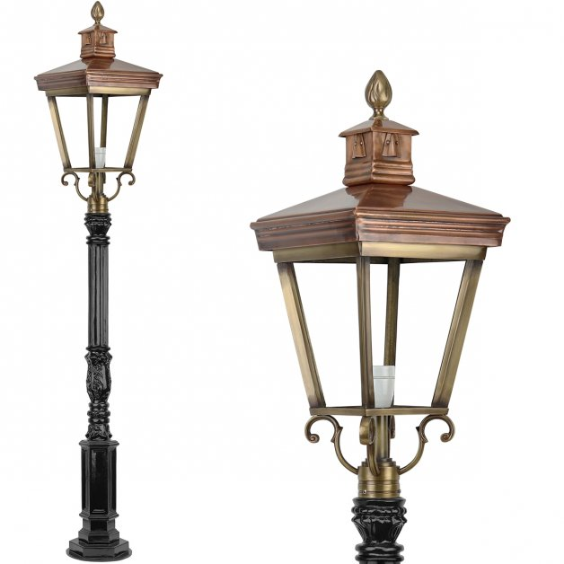 Outdoor Lamps Bronze Copper Lantern old style brass Camperduin - 173 cm