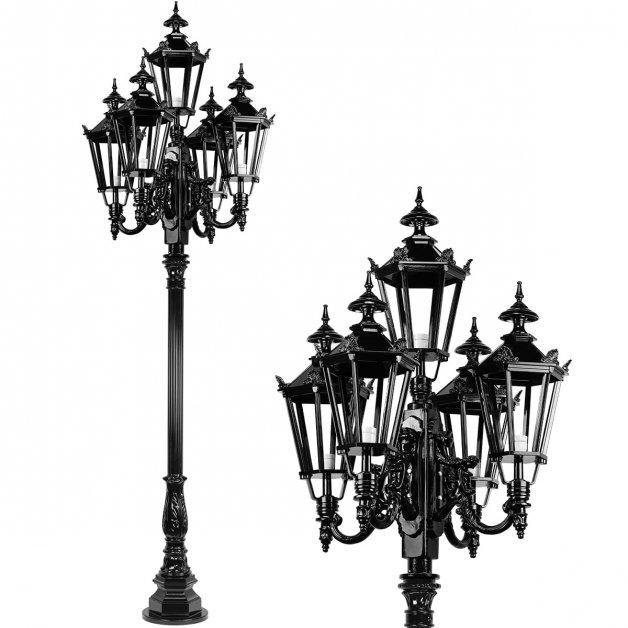 Außenleuchten Klassisch Ländlich Laternenmast IJsbrechtum 5-Licht - 275 cm