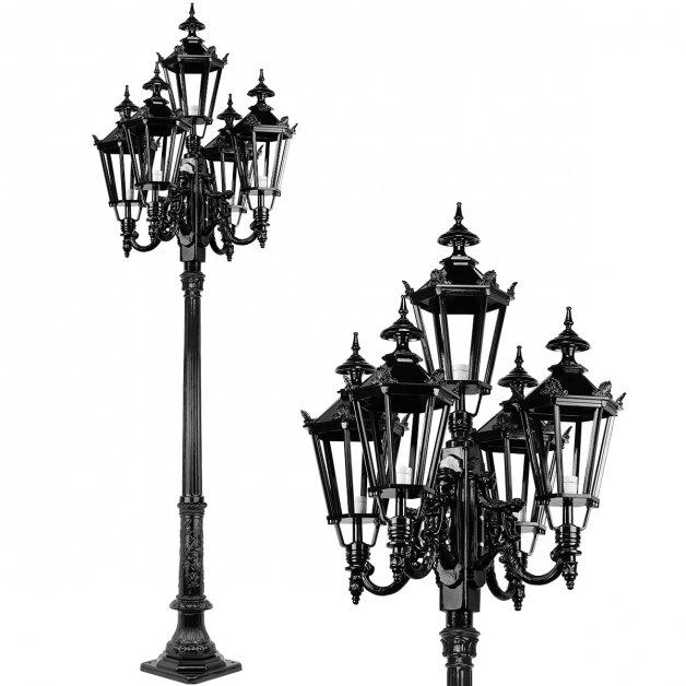 Außenleuchten Klassisch Ländlich Laternenpfahl Herkenbosch 5-Lampe - 290 cm