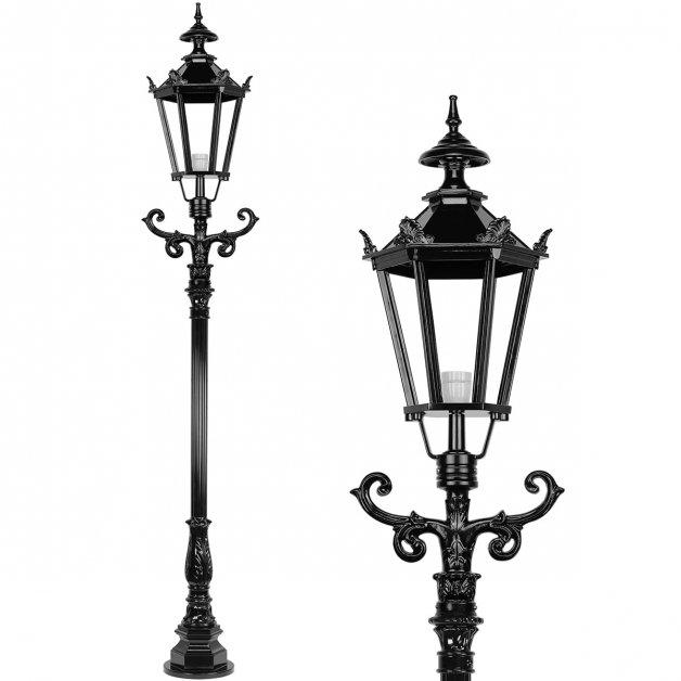 Außenbeleuchtung Klassisch Ländlich Laternenpfahl mit kronen Avenhorn - 260 cm