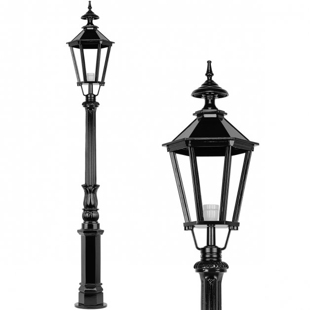 Außenbeleuchtung Klassisch Ländlich Laternenpfahl vorgarten Aerdt - 198 cm